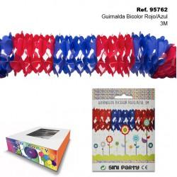 Guirnalda Bicolor Rojo/Azul 3m SINI