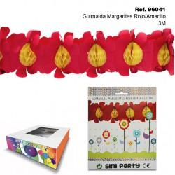Guirnalda Margaritas Rojo/Amarillo 3M SINI