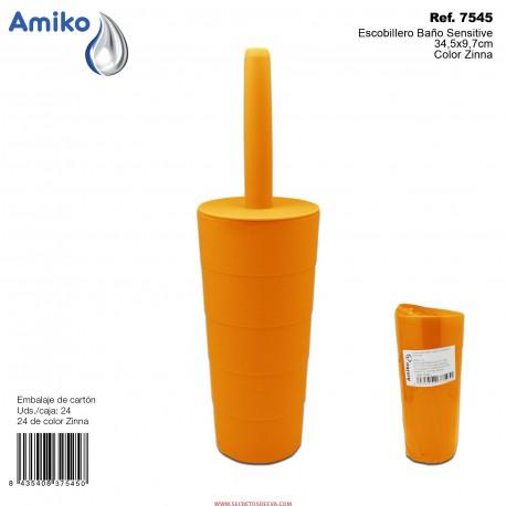 Escobillero Baño Sensitive Zinna 34,5x9,7cm Amiko