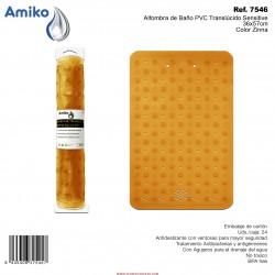 Alfombra de Baño PVC Translúcido Sensitive Zinna 36x57cm Amiko