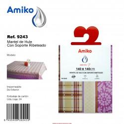 Mantel de Hule con Ribete 1,40x1,40m Modelo 3034B Amiko