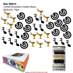 Confeti Decorativo Golden Music 15grs