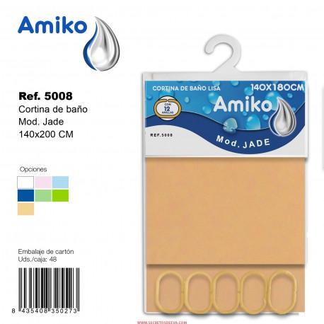 Cortina de Baño Lisa 140x180CM Modelo Jade Amiko