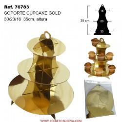 Soporte para Cupcake Gold