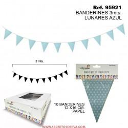 Banderines Lunares Azul 3 mts.