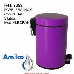 PAPELERA INOX  C/PEDAL 3L ALBORAN