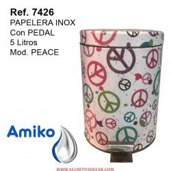 PAPELERA INOX  C/PEDAL 5L PEACE