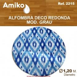 ALFOMBRA DECO REDONDA ø 1,20 m. Mod. GRAU