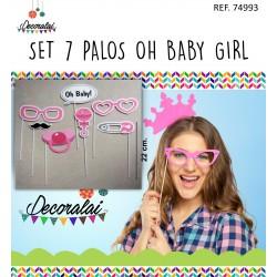 SET 7 PALOS OHH BABY GIRL
