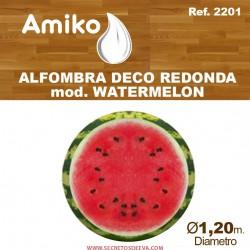 ALFOMBRA DECO REDONDA DIAM.1,20M  MOD. WATERMELON