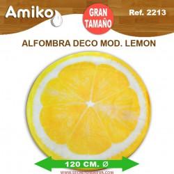 ALFOMBRA DECO REDONDA DIAM. 1,20M MOD. LEMON