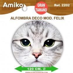 ALFOMBRA DECO REDONDA DIAM. 1,20M MOD. FELIX