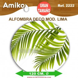 ALFOMBRA DECO REDONDA DIAM. 1,20M MOD. LIMA