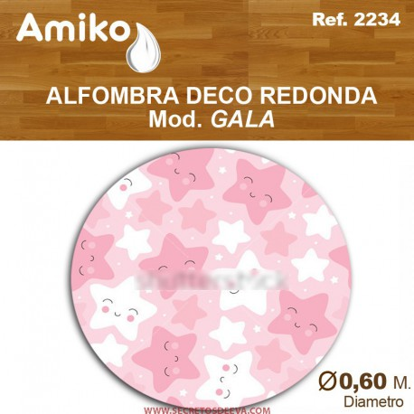 ALFOMBRA DECO REDONDA DIAM. 0,60M  MOD. GALA