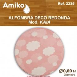 ALFOMBRA DECO REDONDA DIAM. 0,60M MOD. KAIA