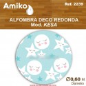 ALFOMBRA DECO REDONDA DIAM. 0,60M MOD. KESA