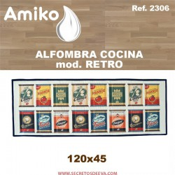 ALFOMBRA COCINA 120x45 CM.  MOD. RETRO