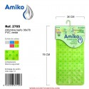 Alfombra Baño PVC Translucido 36x76cm Verde Amiko