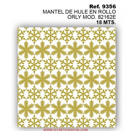 MANTEL DE HULE EN ROLLO ORLY MOD. 82162E ORO NAVIDAD