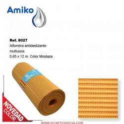 Alfombra Antideslizante Multiusos Mostaza 0.65x12m Amiko
