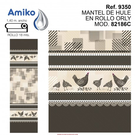 MANTEL DE HULE EN ROLLO ORLY MOD. 82186C