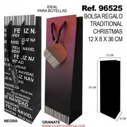 Bolsa de Regalo Traditional Christmas 12x8x36cm SINI