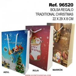 Bolsa de Regalo Traditional Christmas 22x29x8cm SINI