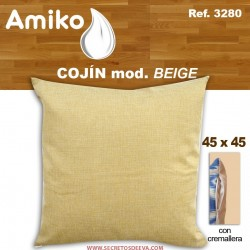 COJIN 45X45 CM. BEIGE