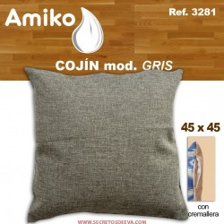 COJIN 45X45 CM. GRIS