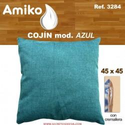 COJIN 45X45 CM. AZUL