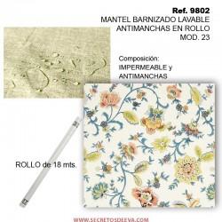 MANTEL BARNIZADO LAVABLE ANTIMANCHAS EN ROLLO MOD. 23