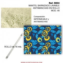 MANTEL BARNIZADO LAVABLE ANTIMANCHAS EN ROLLO MOD. 48