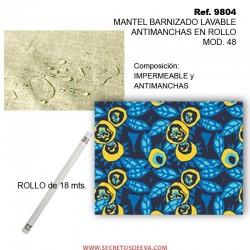 MANTEL BARNIZADO LAVABLE ANTIMANCHAS EN ROLLO MOD. 48