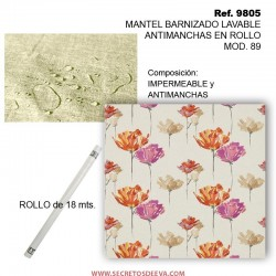 MANTEL BARNIZADO LAVABLE ANTIMANCHAS EN ROLLO MOD. 89