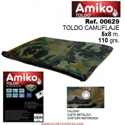 TOLDO CAMUFLAJE 5X8M 110GRS AMIKO