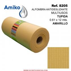 Alfombra Antideslizante Multiusos Tupida Roja 0.61x12M Amiko