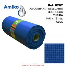 Alfombra Antideslizante Multiusos Tupida Naranja 0.61x12M Amiko