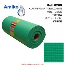 Alfombra Antideslizante Multiusos Tupida Verde 0.61x12M Amiko