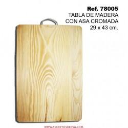Tabla de Madera con Asa Cromada 29x43cm SINI