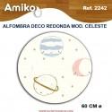 ALFOMBRA DECO REDONDA DIAM. 0,60M MOD. CELESTE