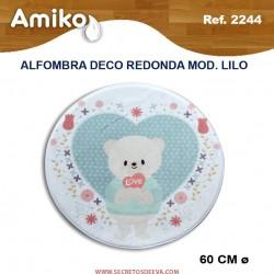 ALFOMBRA DECO REDONDA DIAM. 60 CM MOD. LILO