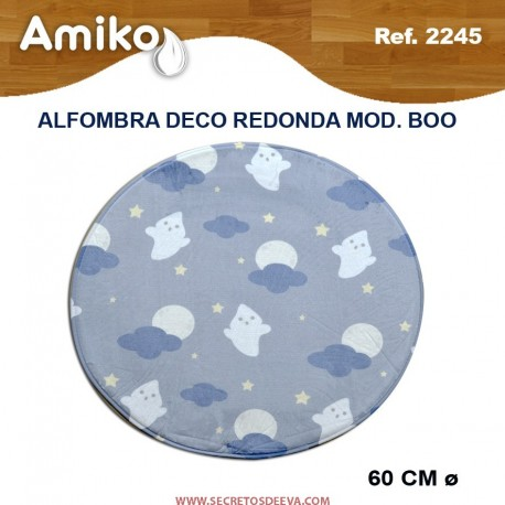 ALFOMBRA DECO REDONDA DIAM. 60 CM MOD. BOO