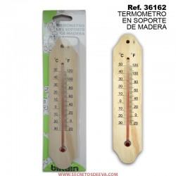 Termómetro Soporte de madera
