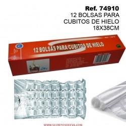12 Bolsas para Cubitos de Hielo 18X38CM SINI
