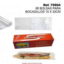 60 Bolsas para Bocadillos 15x33cm SINI