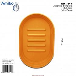 Jabonera Sensitive Zinna 14x8,8cm Amiko