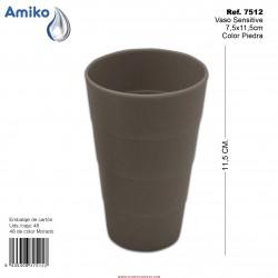 Vaso Sensitive Piedra 7,5x11,5cm Amiko