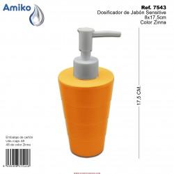 Dosificador de Jabón Sensitive Zinna 8x17,5cm Amiko