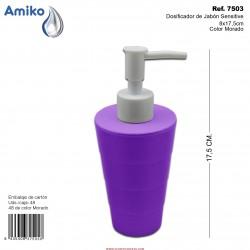 Dosificador de Jabón Sensitive Morado 8x17,5cm Amiko