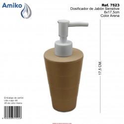 Dosificador de Jabón Sensitive Arena 8x17,5cm Amiko